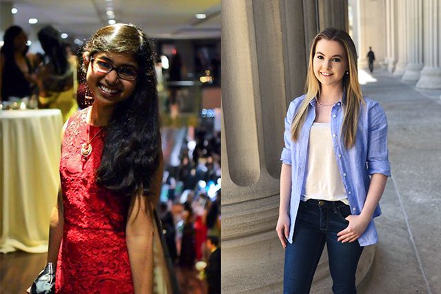 Meenakshi Chakraborty and Anna Sappington named 2017-2018 Goldwater Scholars