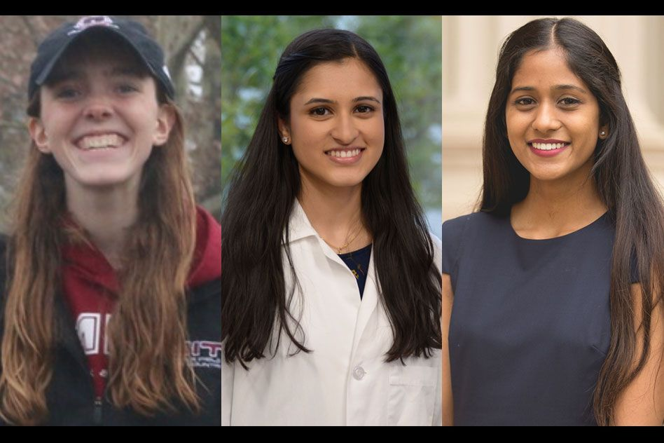 Katie Collins, Vaishnavi Phadnis, and Vaibhavi Shah named 2020-21 Goldwater Scholars