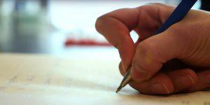 A hand writing