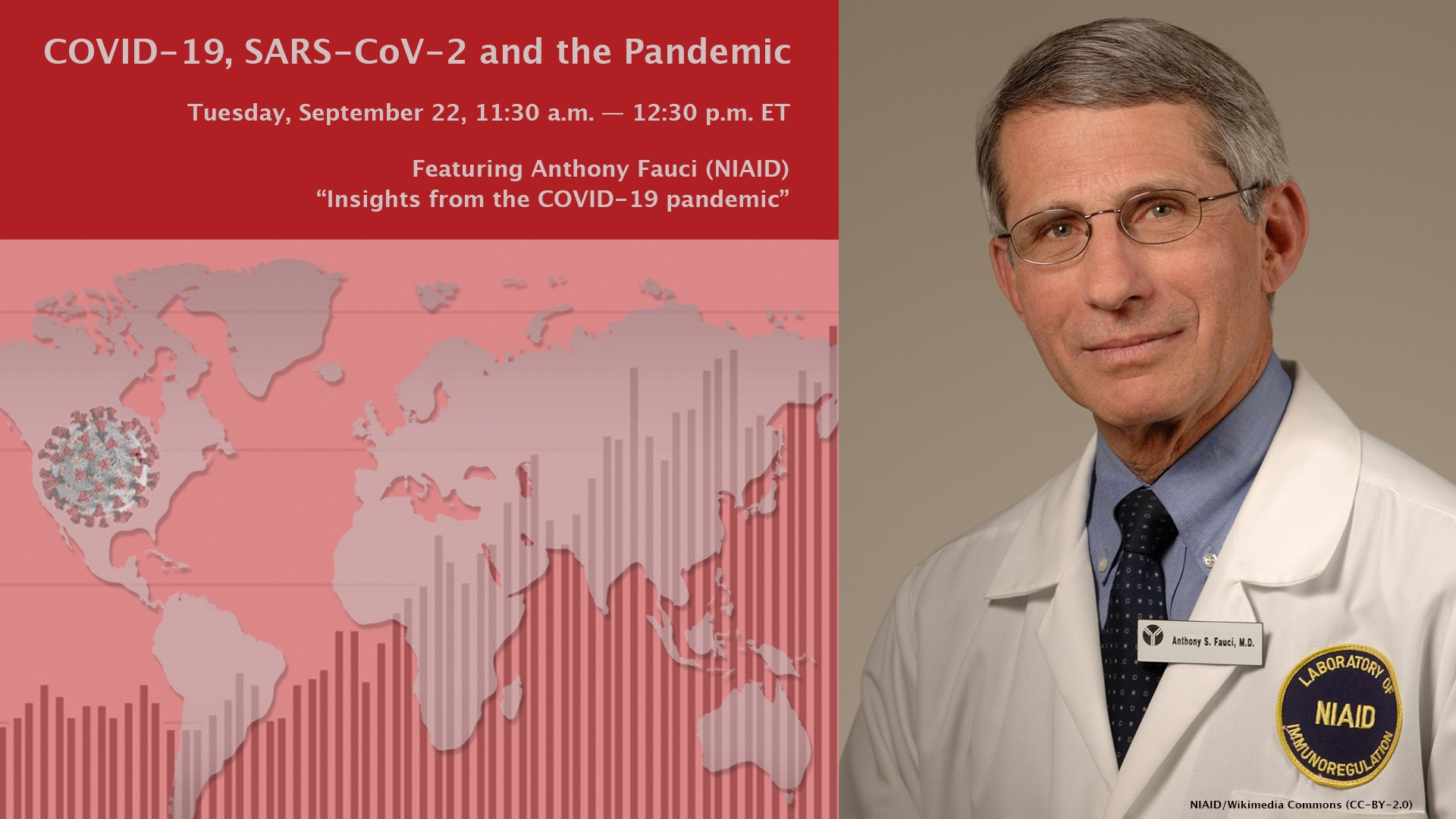 """Anthony Fauci: """"Insights from the COVID-19 pandemic"""""""