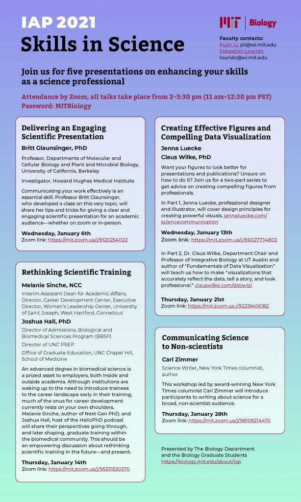 IAP 2021 Poster - Skills in Science