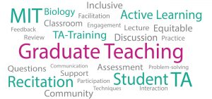 Word cloud of words related to teaching
