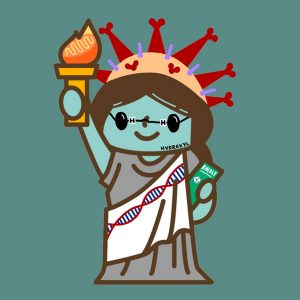Cartoon of Statue of Liberty